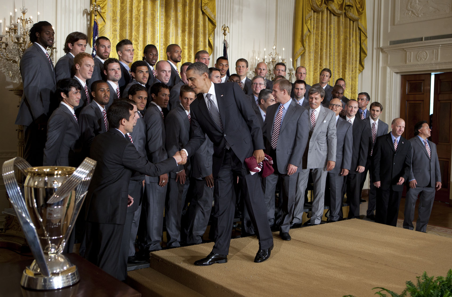 President Obama Greets the Colorado Rapids