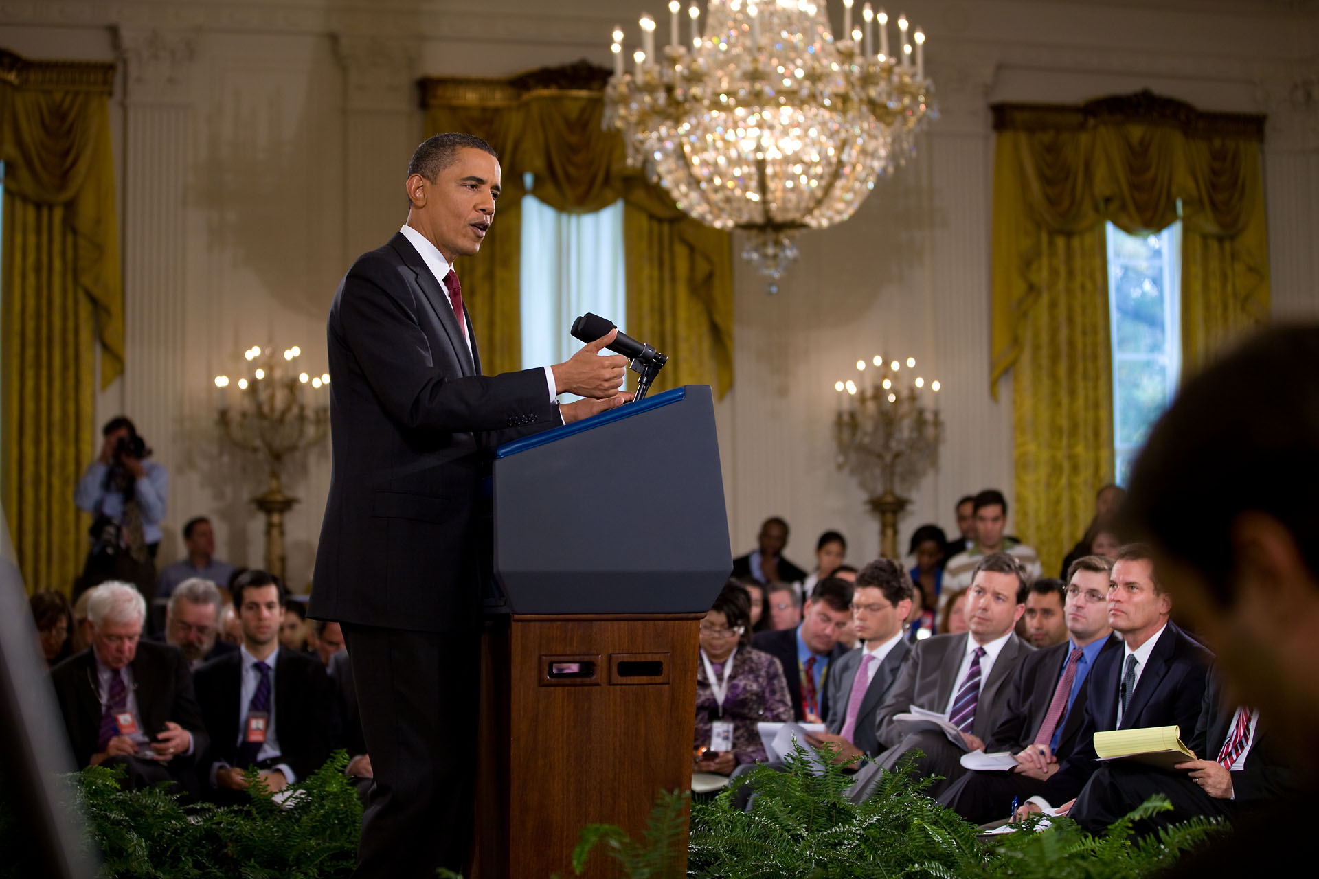 President Barack Obama Holds a News Conference After the 2010 Elections