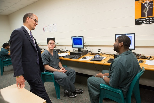 Secretary Perez meets with inmates at the Montgomery County Correctional Facility