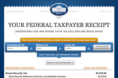 2011 Taxpayer Receipt Promo