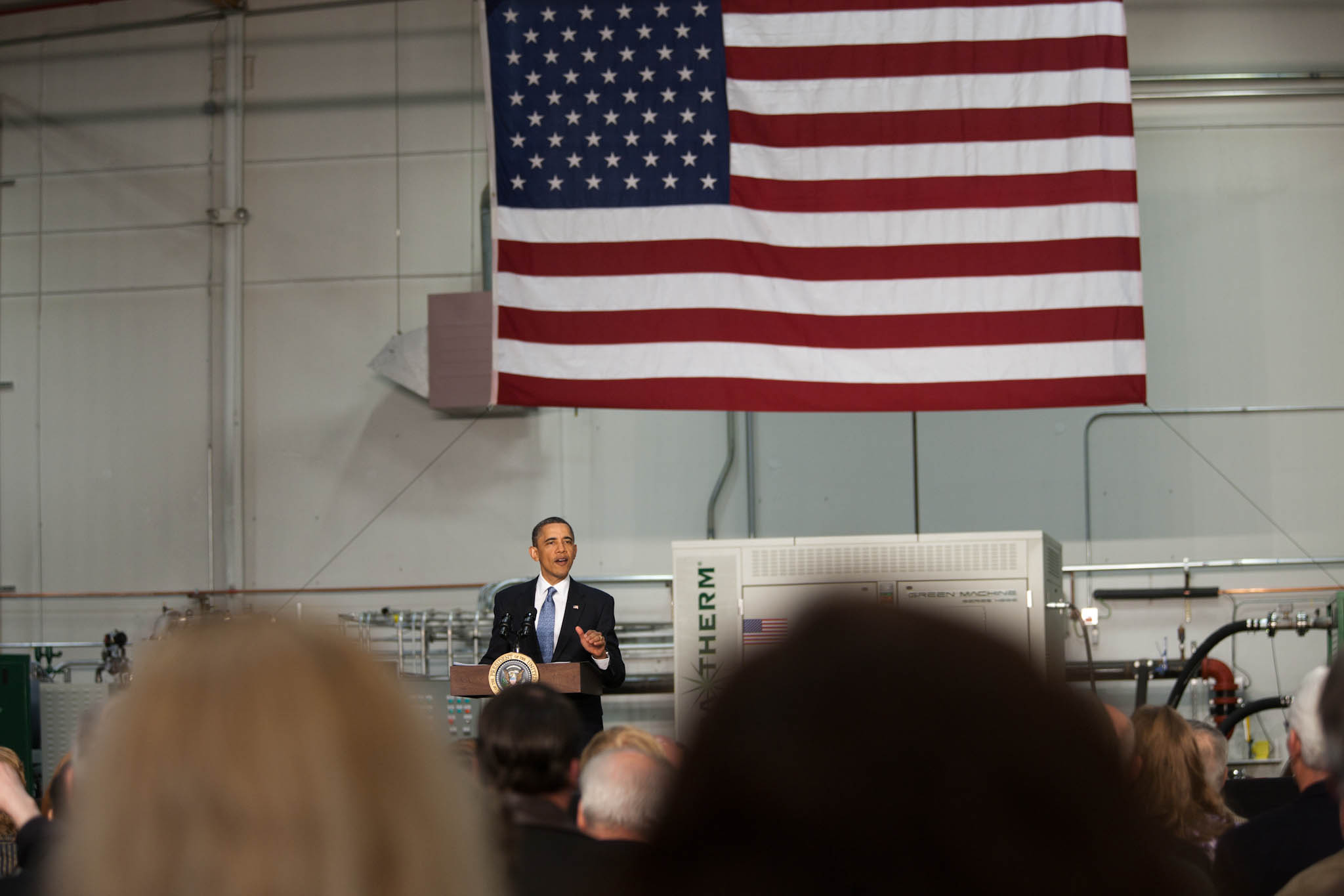 President Barack Obama Holds a Town Hall Meeting at ElectraTherm, Inc. in Reno, Nevada