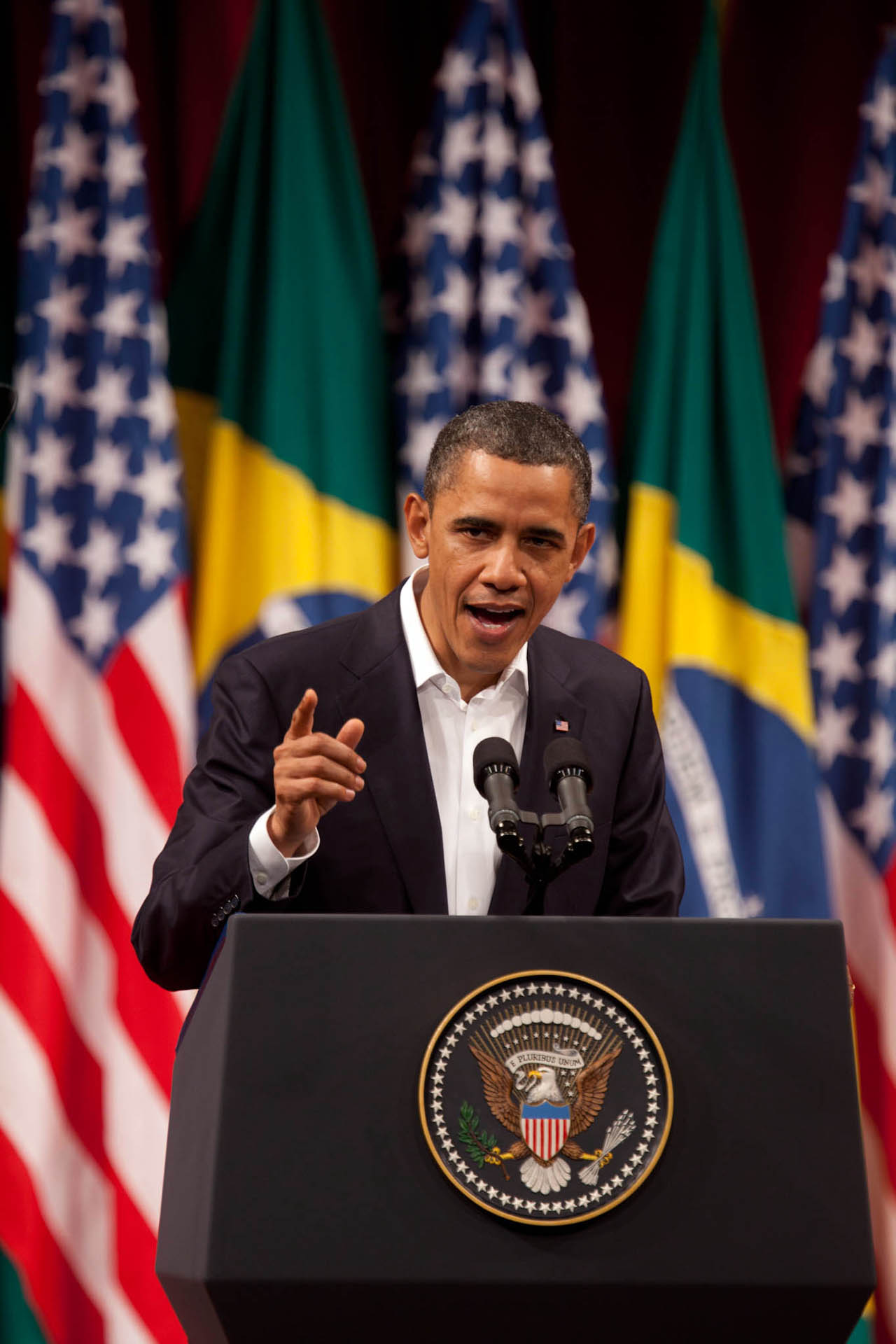 President Obama Speaks to the Brazilian People at Theatro Municipal in Rio de Janiero, Brazil