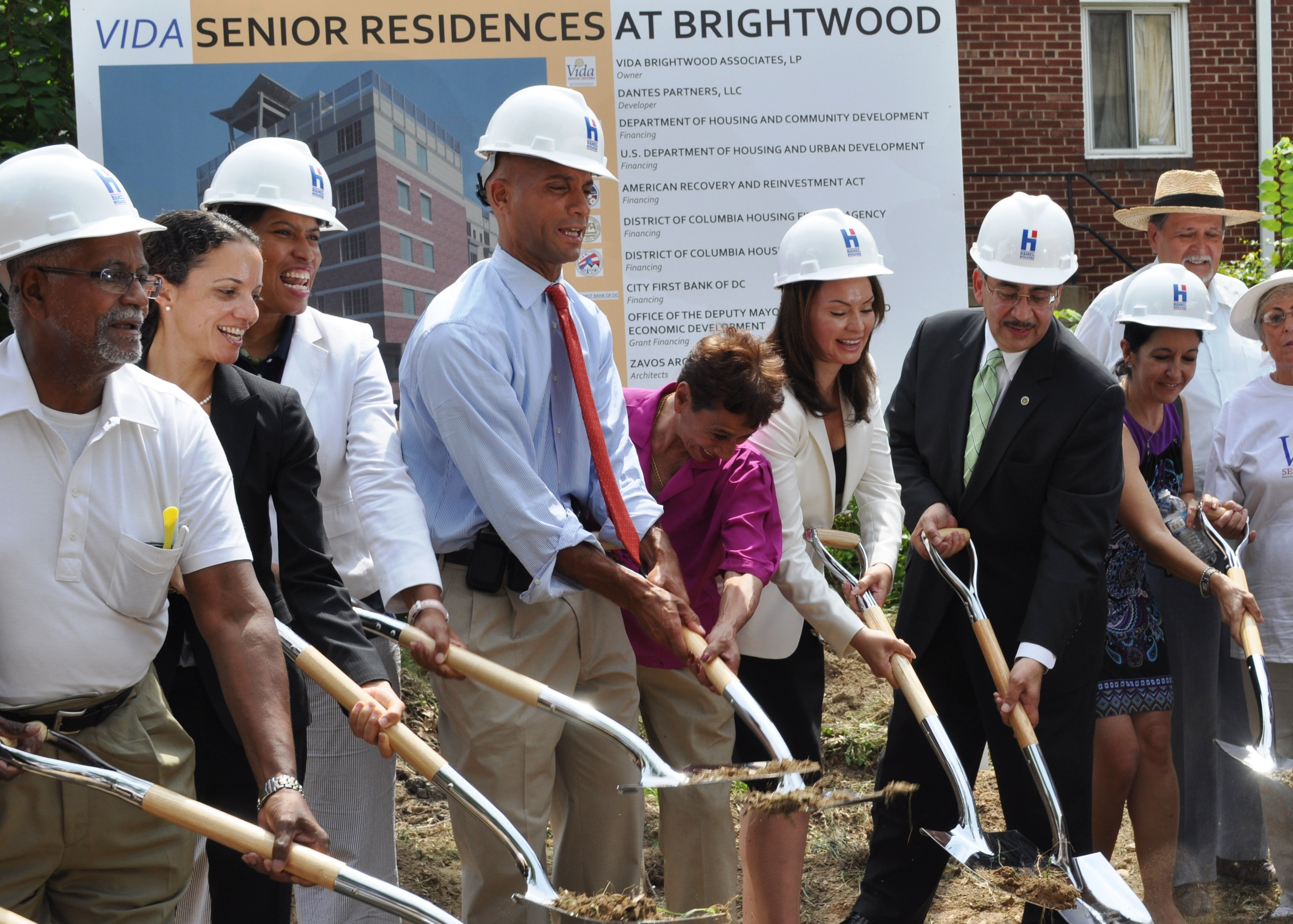 U.S. Treasurer Rosie Rios and D.C. Mayor Adrian Fenty Break Ground on an Affordable Housing Development
