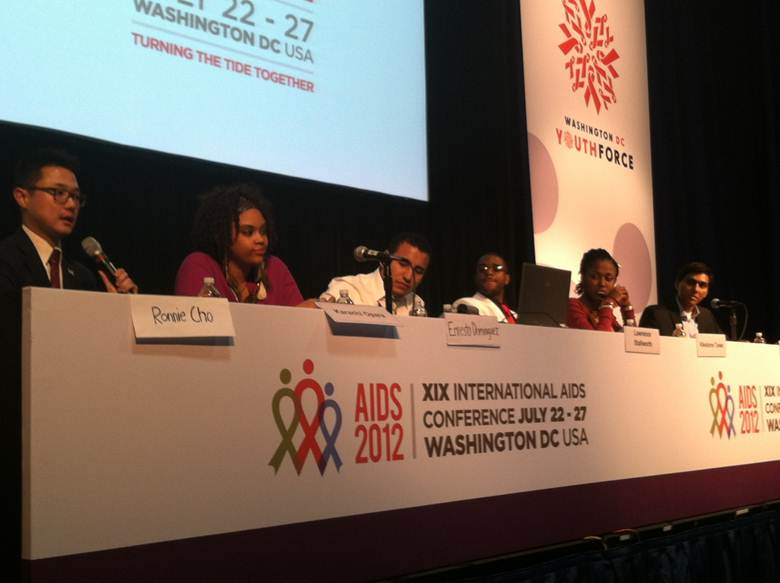 Ronnie Cho at the 2012 International AIDS Conference