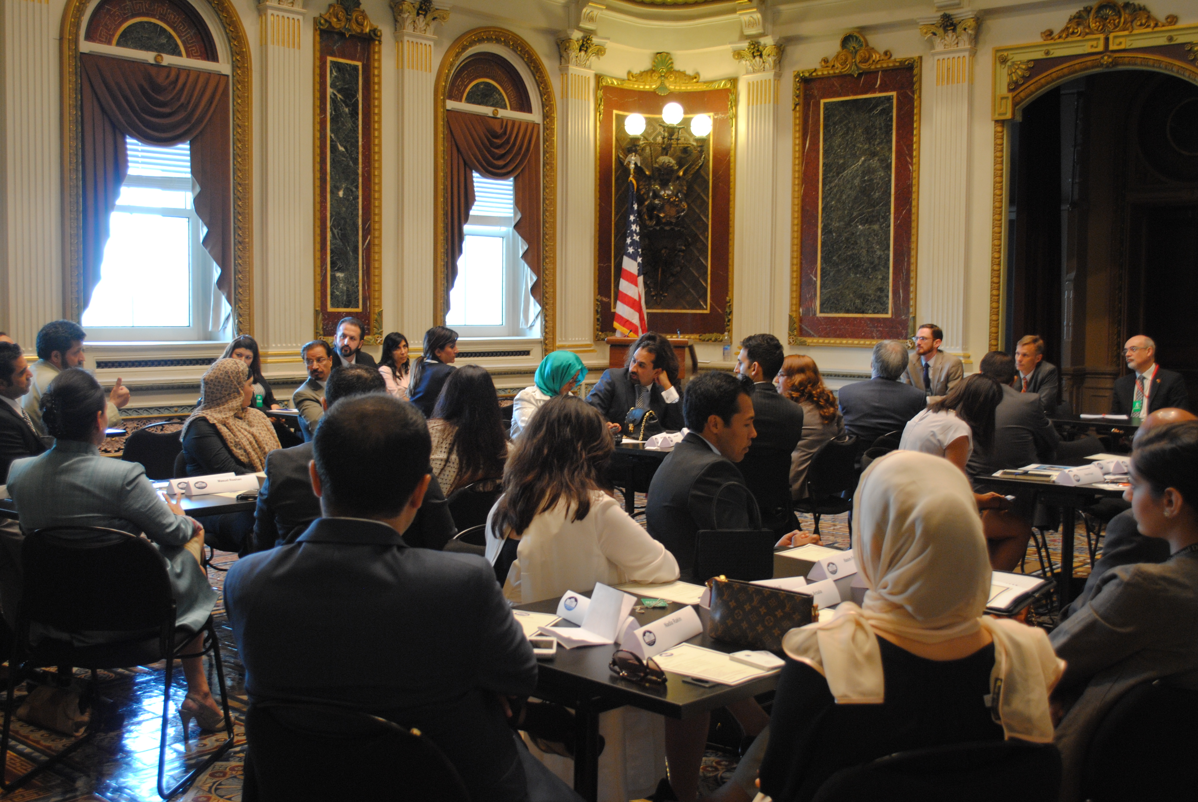 Afghan-American community leaders participate in an interactive policy briefing