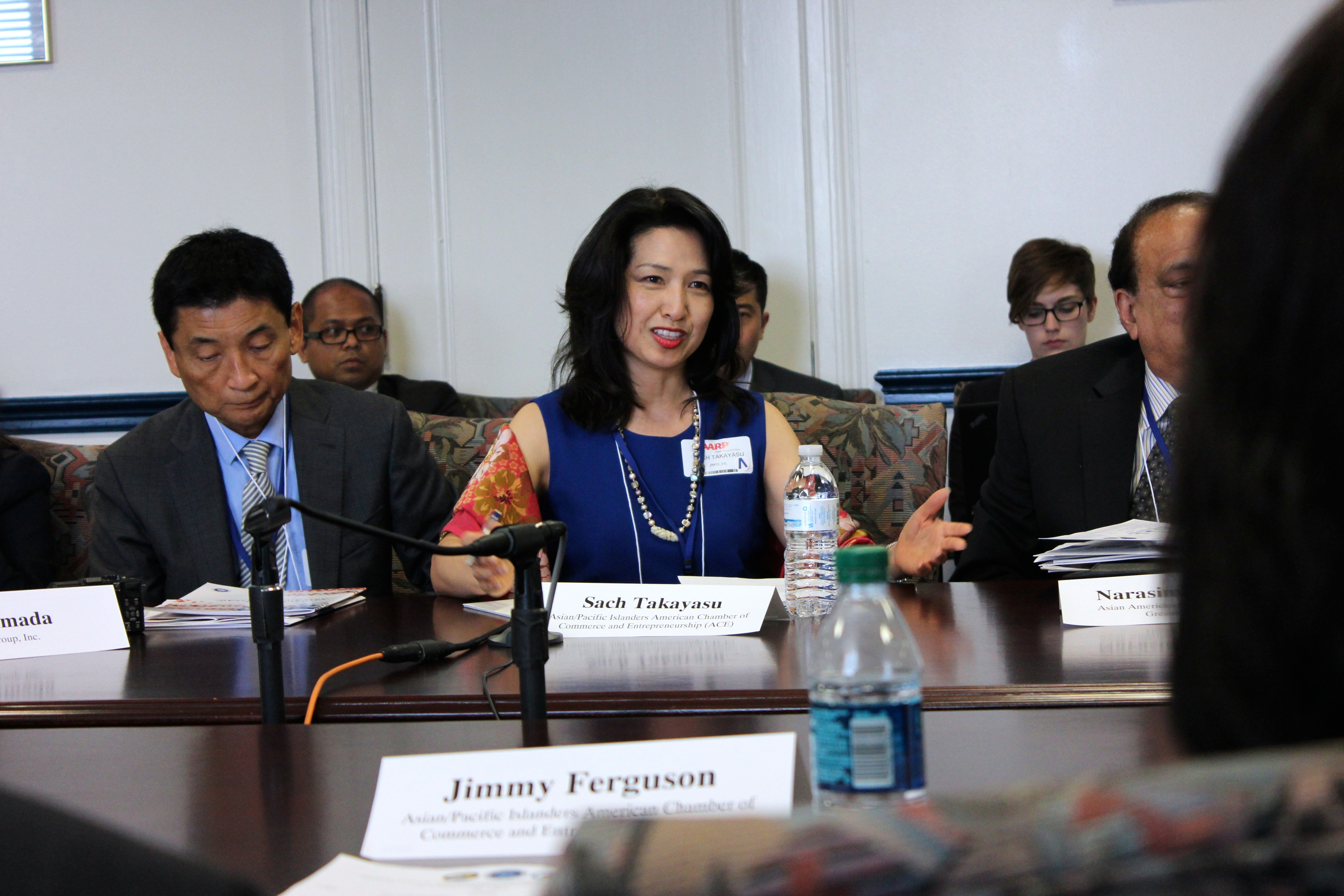 AAPI business leaders in a roundtable discussion