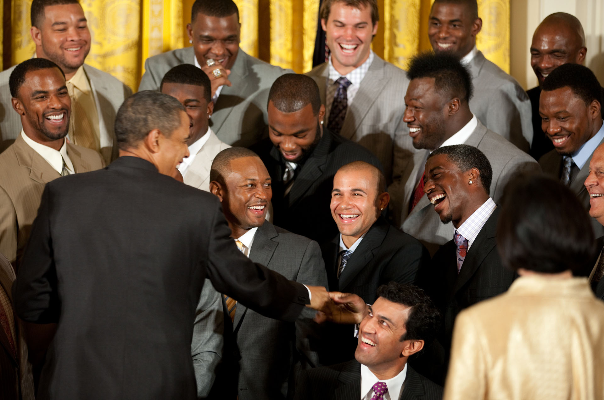 President Obama Welcomes the New Orleans Saints