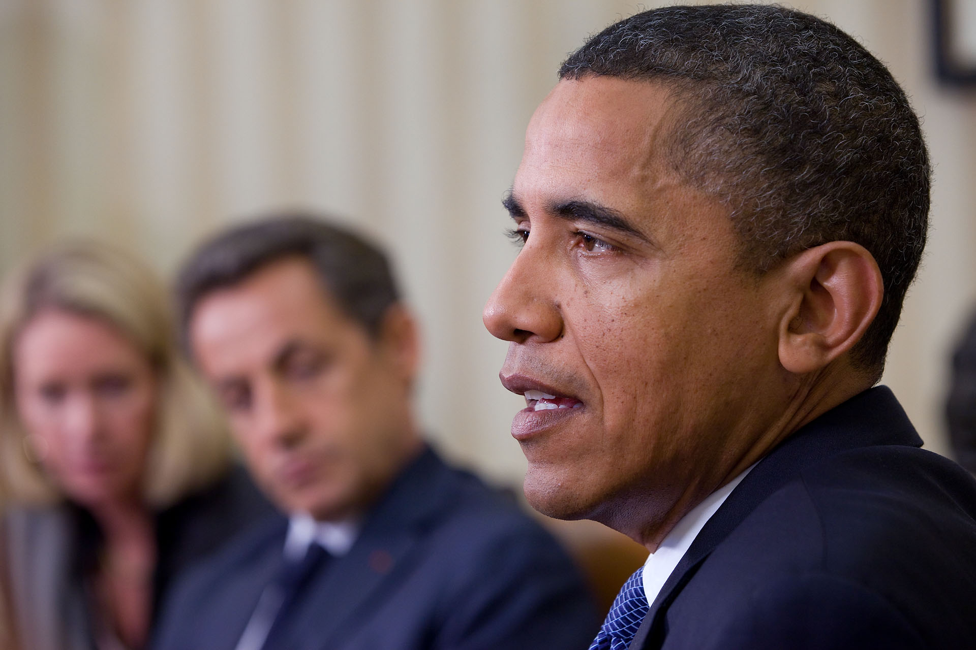 President Barack Obama Speaks on the Arizona Shooting After Meeting with President Nicolas Sarkozy of France