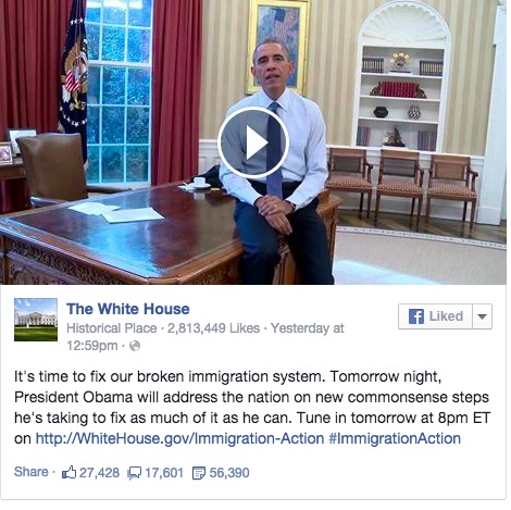 President Obama's Facebook Video on Immigration