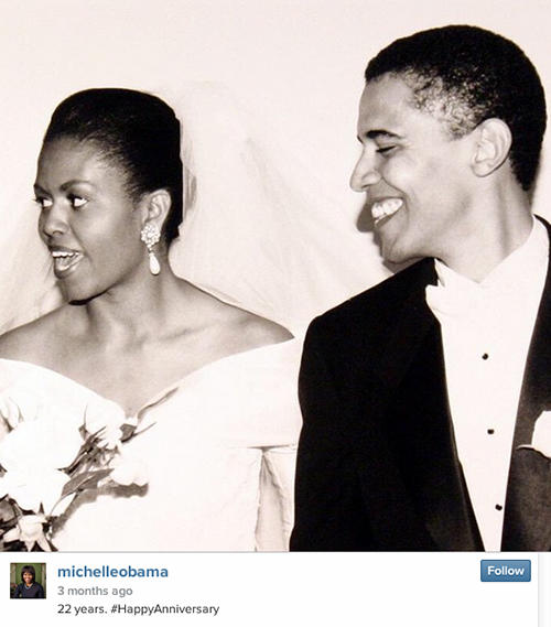 The President and First Lady Celebrate their 22nd Anniversary