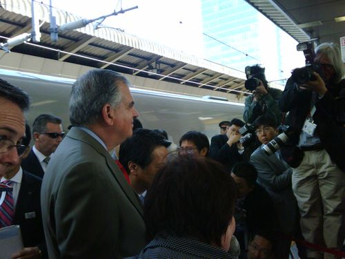 Secretary LaHood Views High-Speed Rail