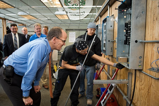 Secretary of Labor Tom Perez visits the San Francisco Electrical Industry Apprenticeship and Training Trust