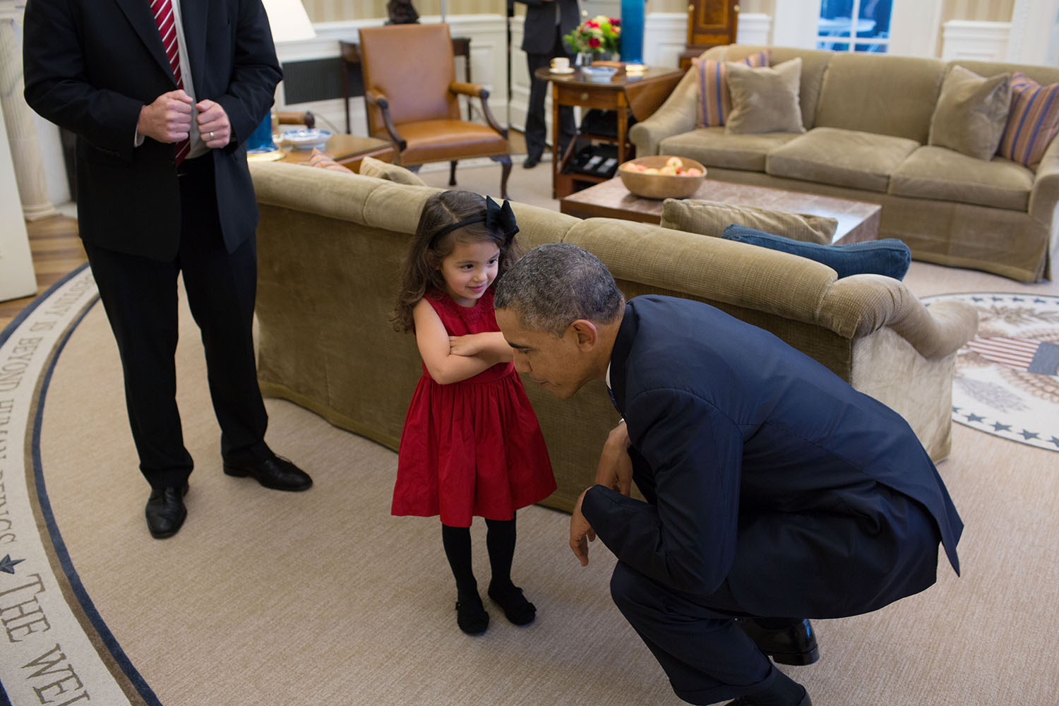 President Obama Listens To Daughter of Secret Service Agent