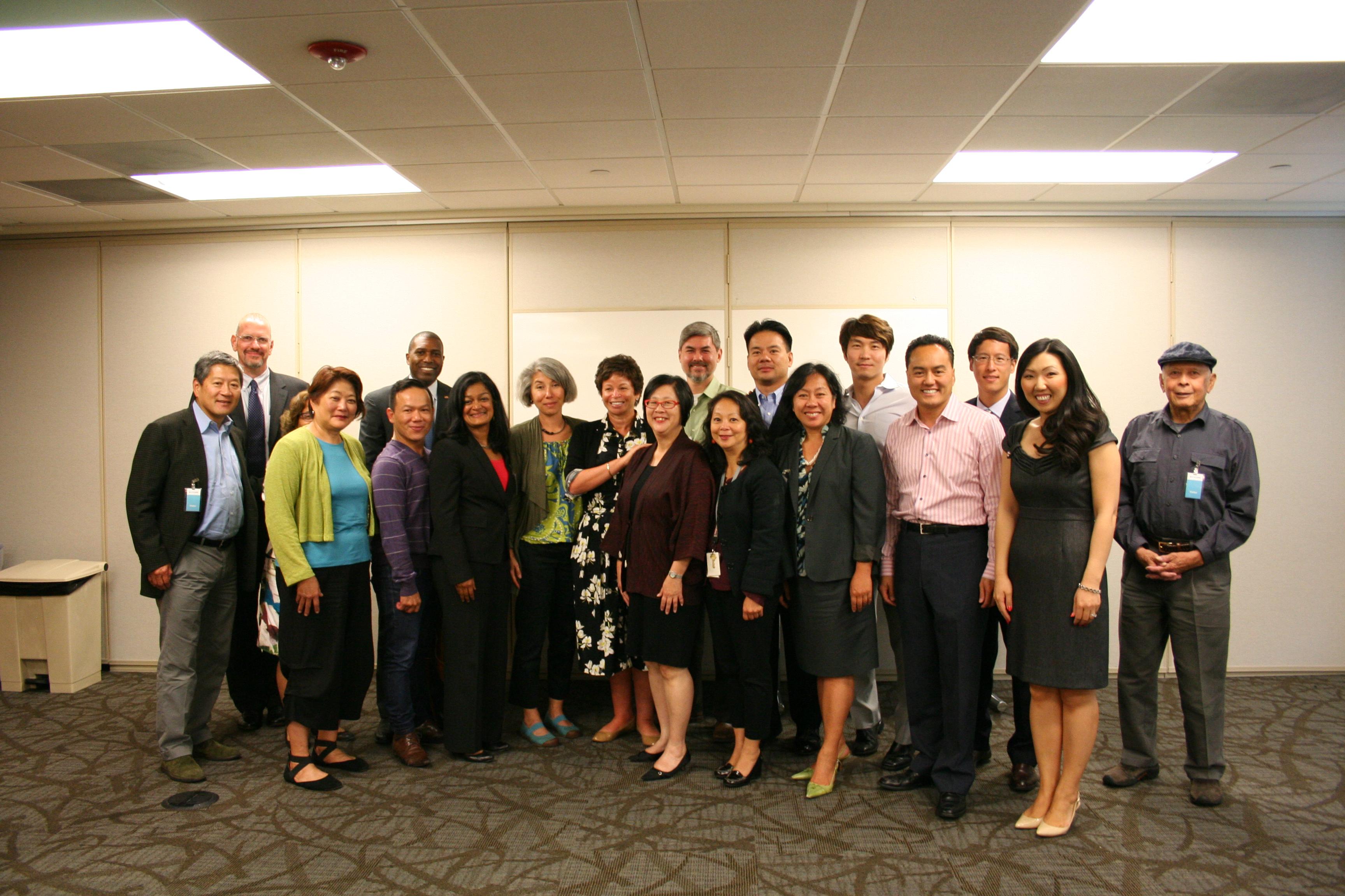 Senior Advisor Valerie Jarrett meets with AAPI community leaders at the International Community Health Services Clinic in Seattle, WA