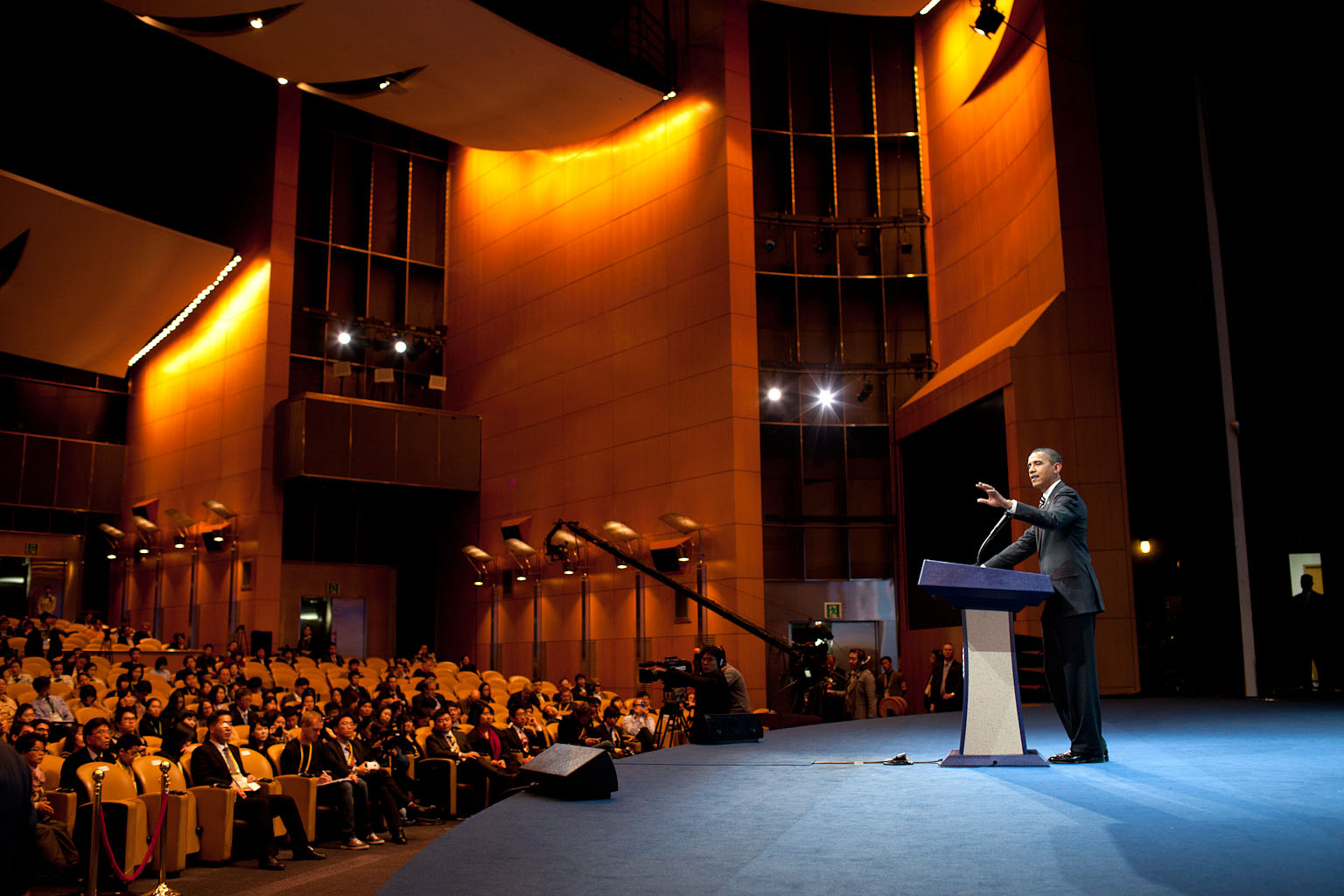 President Barack Obama at a Press Conference at the G20 Summit at Coex Center in Seoul, South Korea