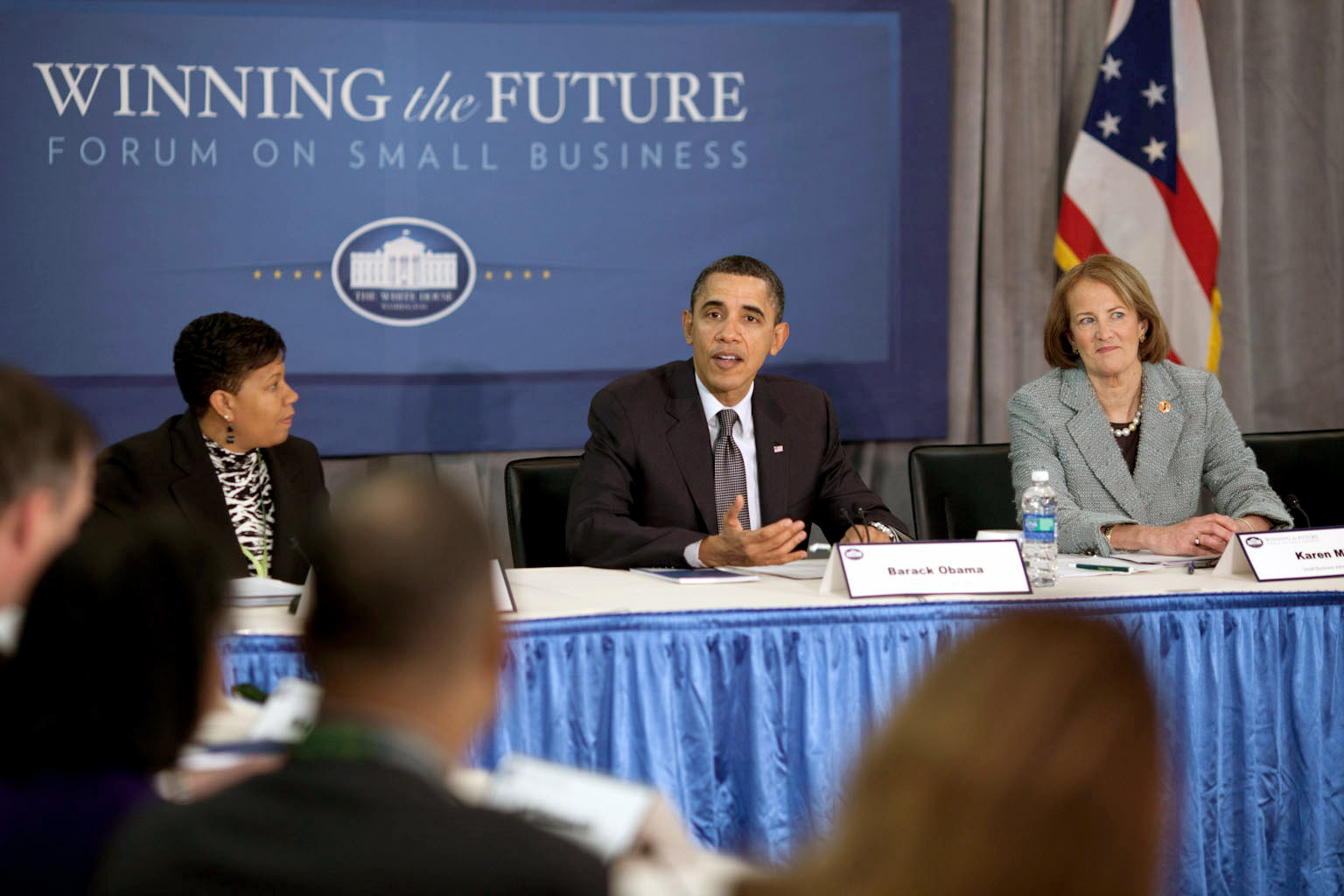 President Barack Obama at the Entrepreneurship Breakout Session at the Winning the Future Forum on Small Business