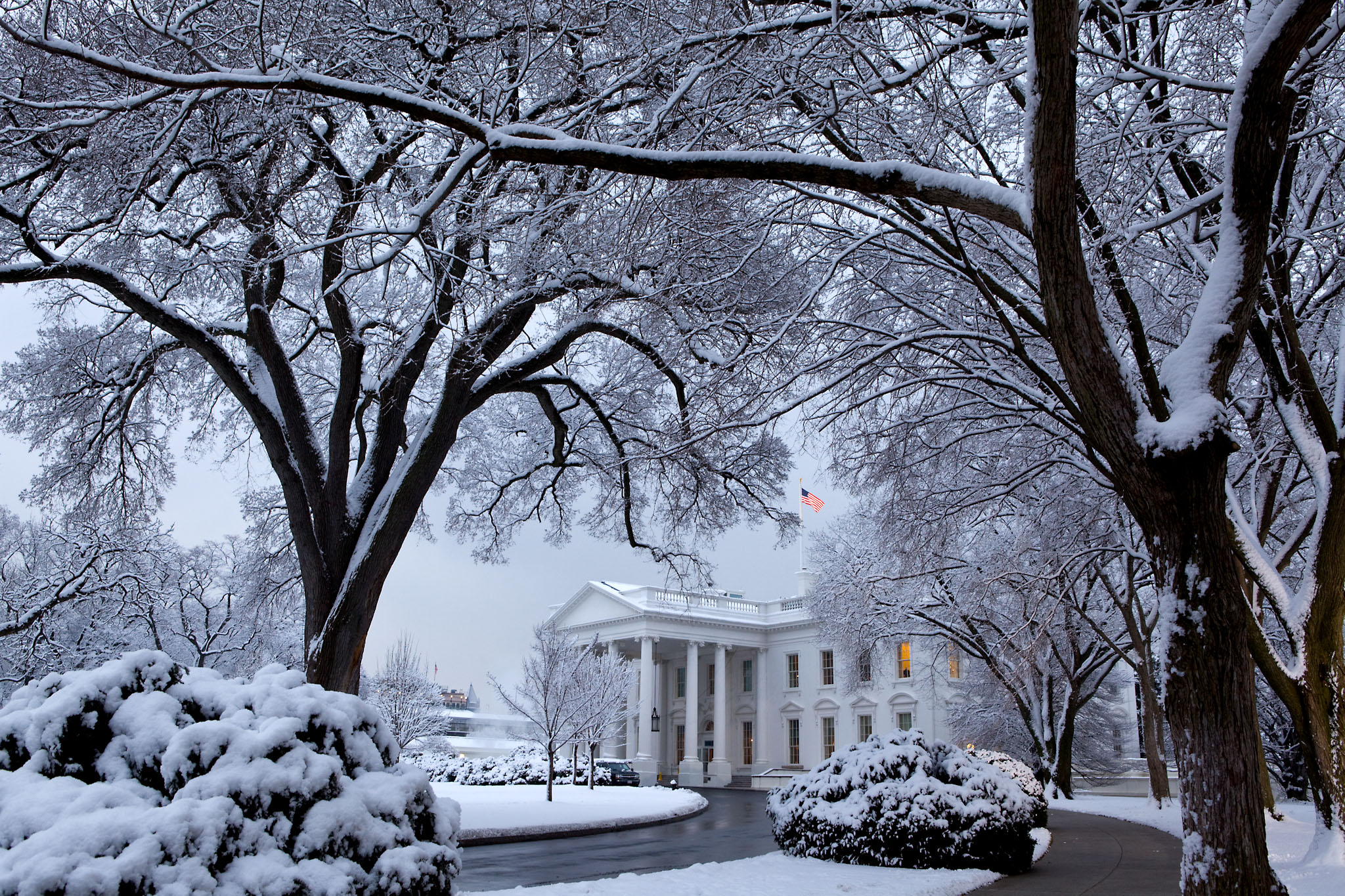 The White House in Snow, February 2009