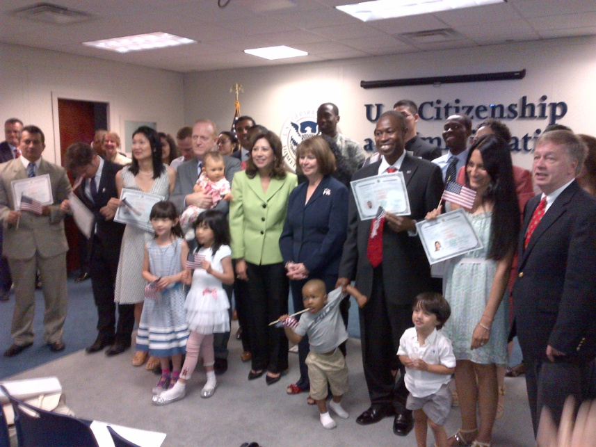 Secretary Solis at a Naturalization Ceremony in New York City