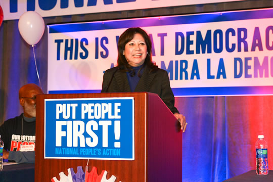 Secretary Solis at Labor Event