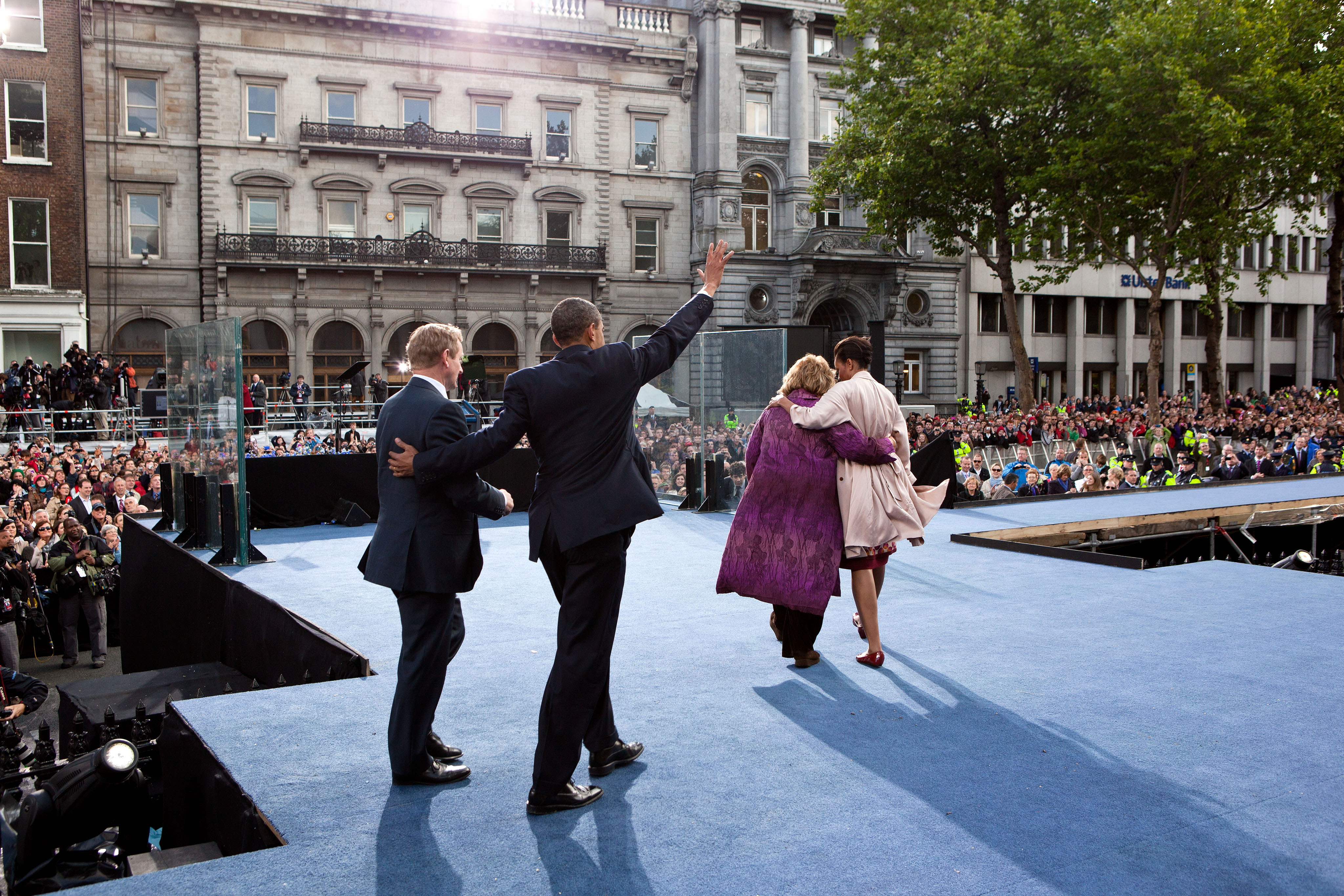 President Barack Obama and the First Lady with Taoiseach Enda Kenny and Fionnuala Kenny