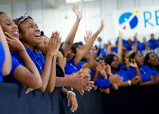 Students at Booker T. Washington High School Listen to First Lady Michelle Obama
