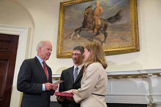 Vice President Joe Biden swears in Sylvia Matthews Burwell as Secretary of Health and Human Services