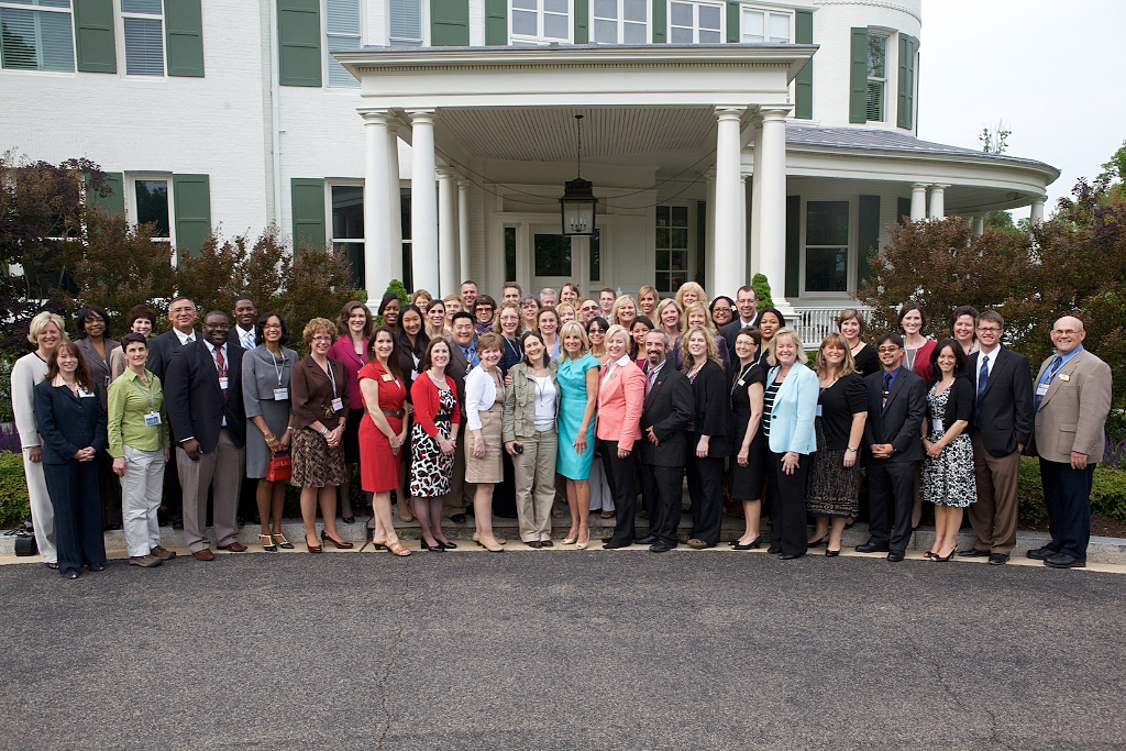 Dr. Biden With Teachers of the Year