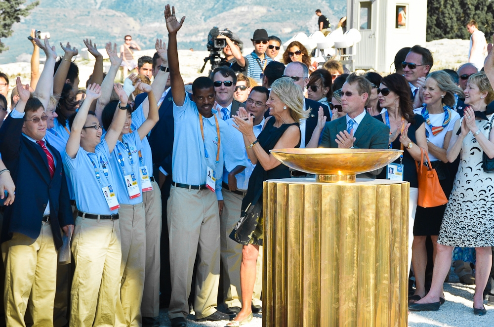 Dr. Biden and US Delegation at Lighting of the Special Olympics Flame