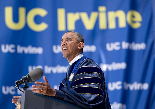 President Obama Delivers the Commencement Address at UC Irvine