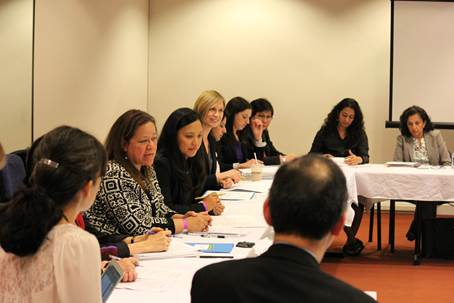 Senior staff from the U.S. Department of Health and Human Services meet with AAPI community health leaders