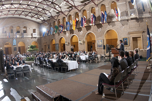 A large and diverse crowd gathered for USDA's 4th annual Iftar celebration