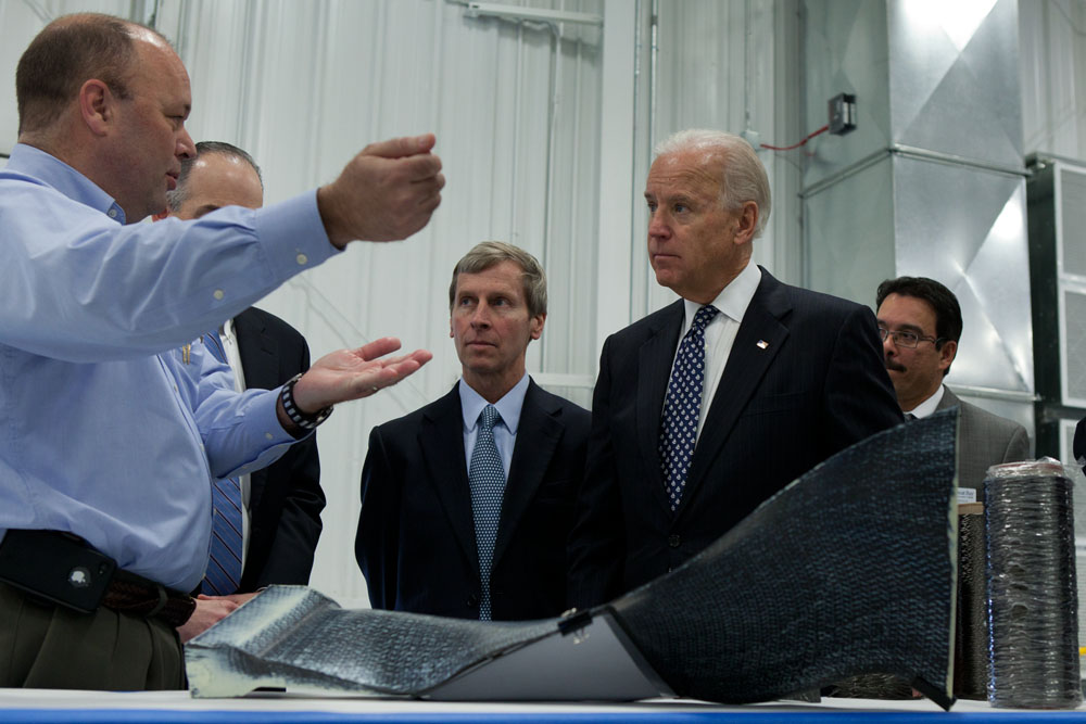 VP Biden tours Albany Engineered Composites