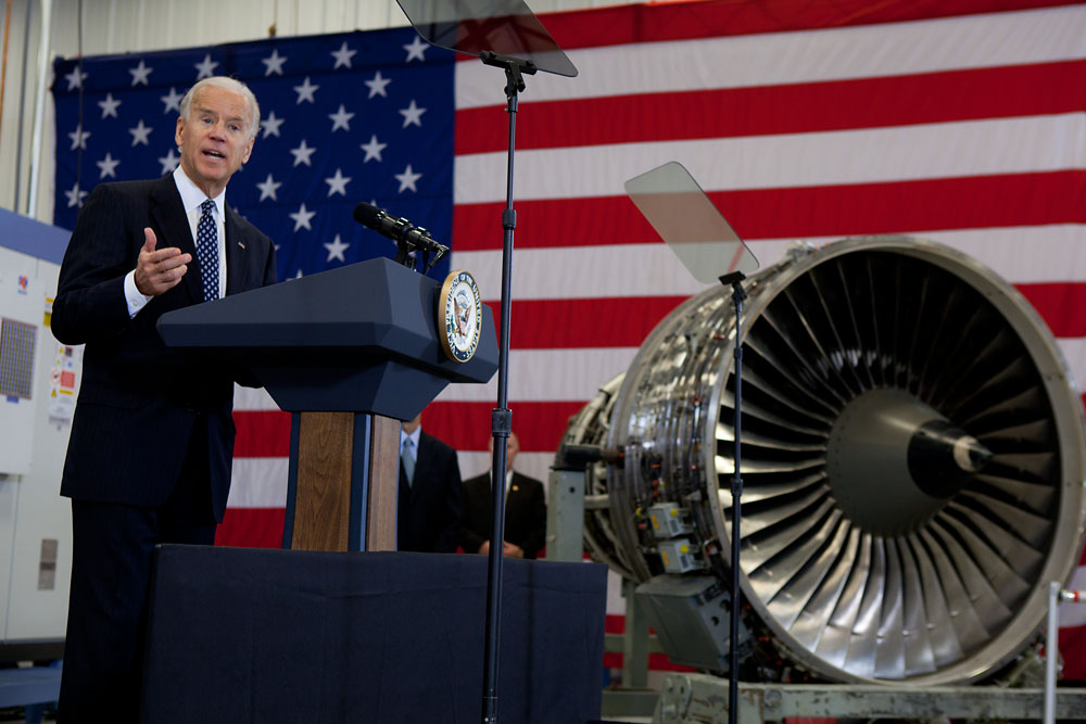 Vice President Joe Biden speaks at Albany Engineered Composites