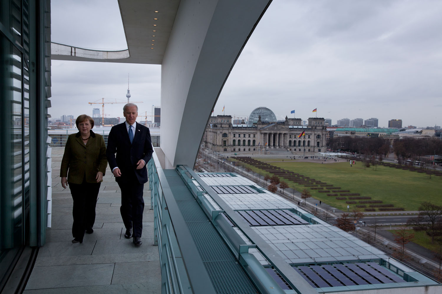 Vice President Joe Biden and German Chancellor Angela Merkel