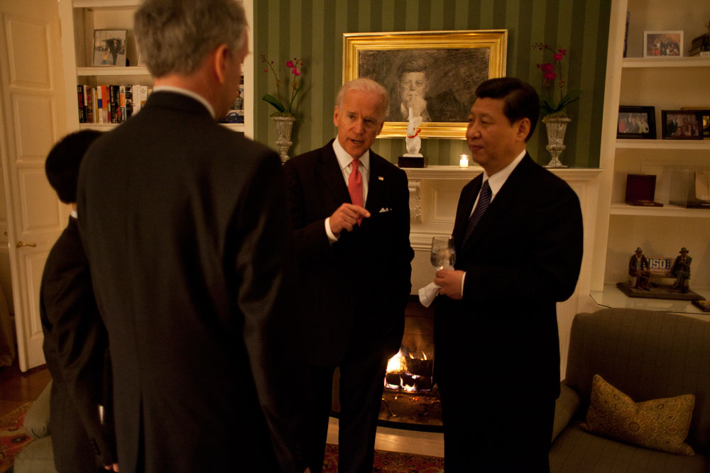 Vice President Joe Biden and Chinese Vice President Xi at the Naval Observatory Residence