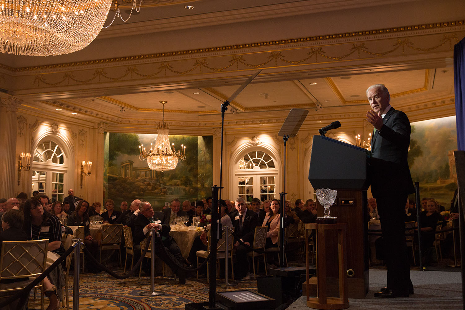 Vice President Joe Biden delivers remarks at the Irish American Hall of Fame luncheon, in New York City