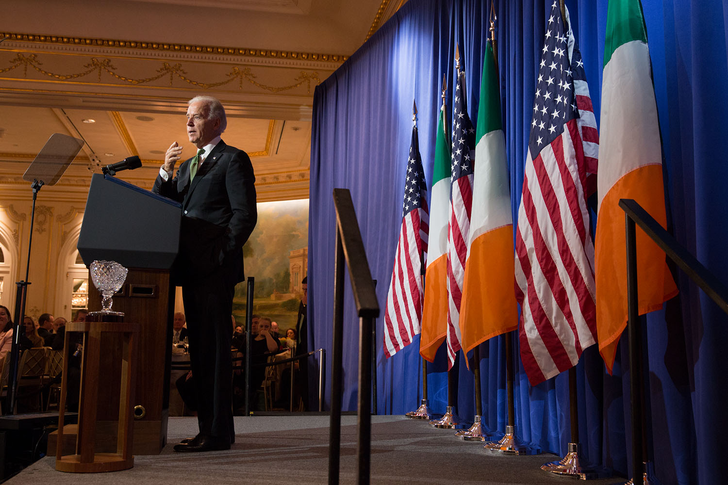 Vice President Joe Biden delivers remarks at the Irish American Hall of Fame luncheon