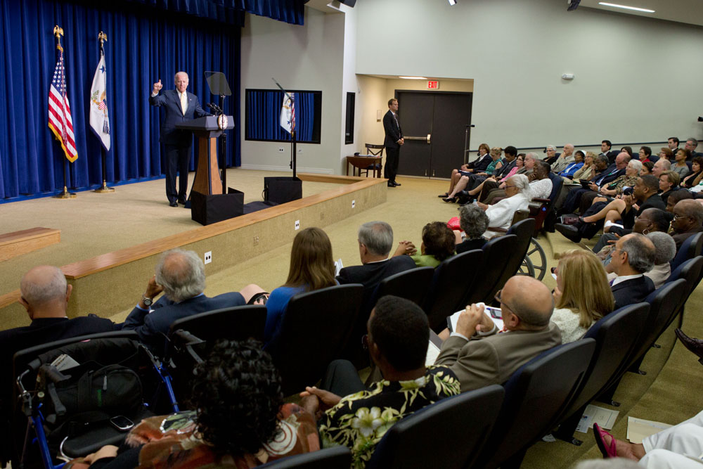 Vice President Joe Biden delivers remarks on Seniors Issues July 16, 2012