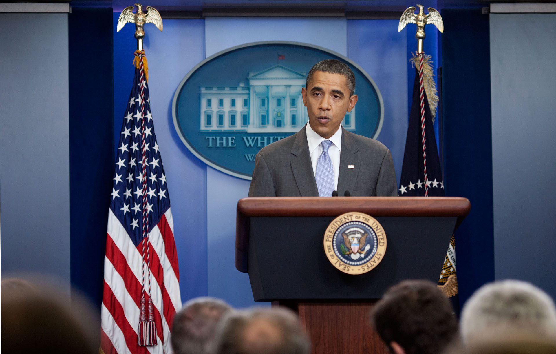 President Barack Obama makes a statement announcing a deal in the ongoing efforts to find a balanced approach to the debt limit and deficit reduction