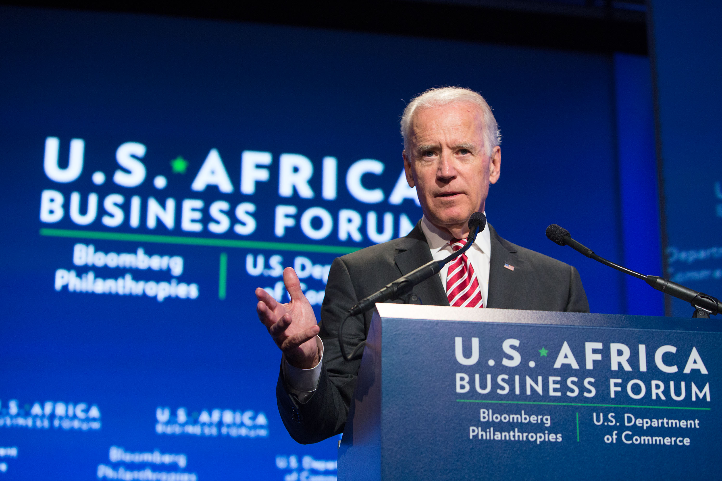 Vice President Joe Biden gives remarks to the U.S.-Africa Business Forum