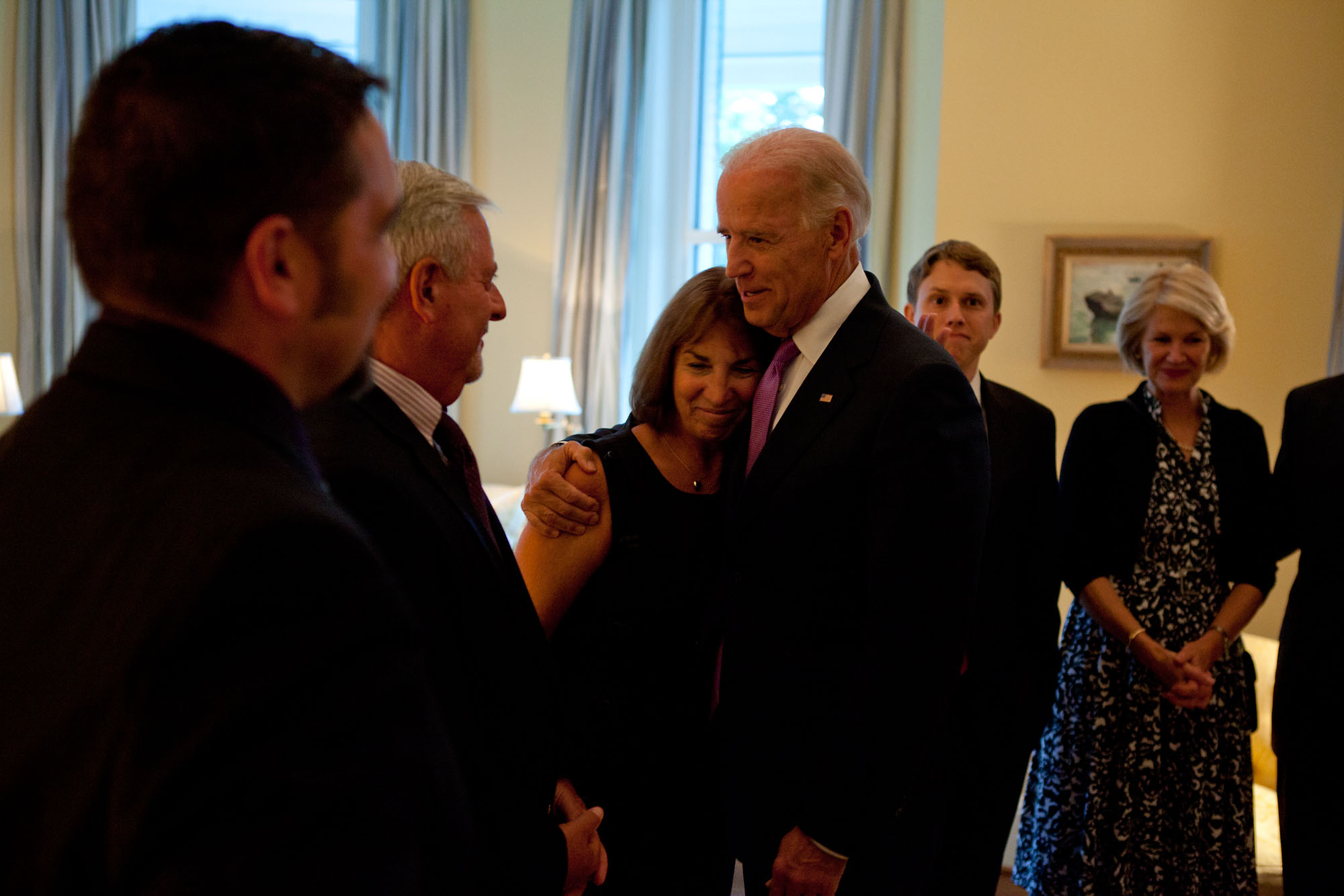 Vice President Biden with Ann Burke at the Naval Observatory