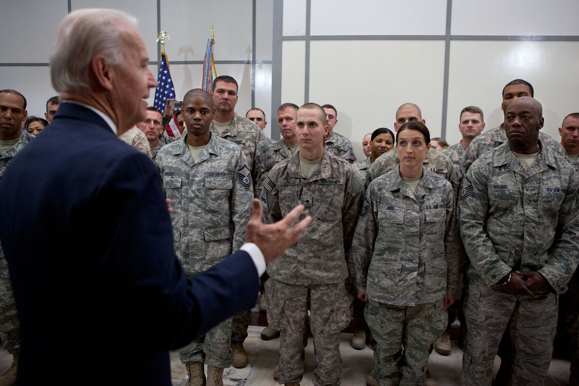 Vice President Joe Biden at Camp Victory, Iraq