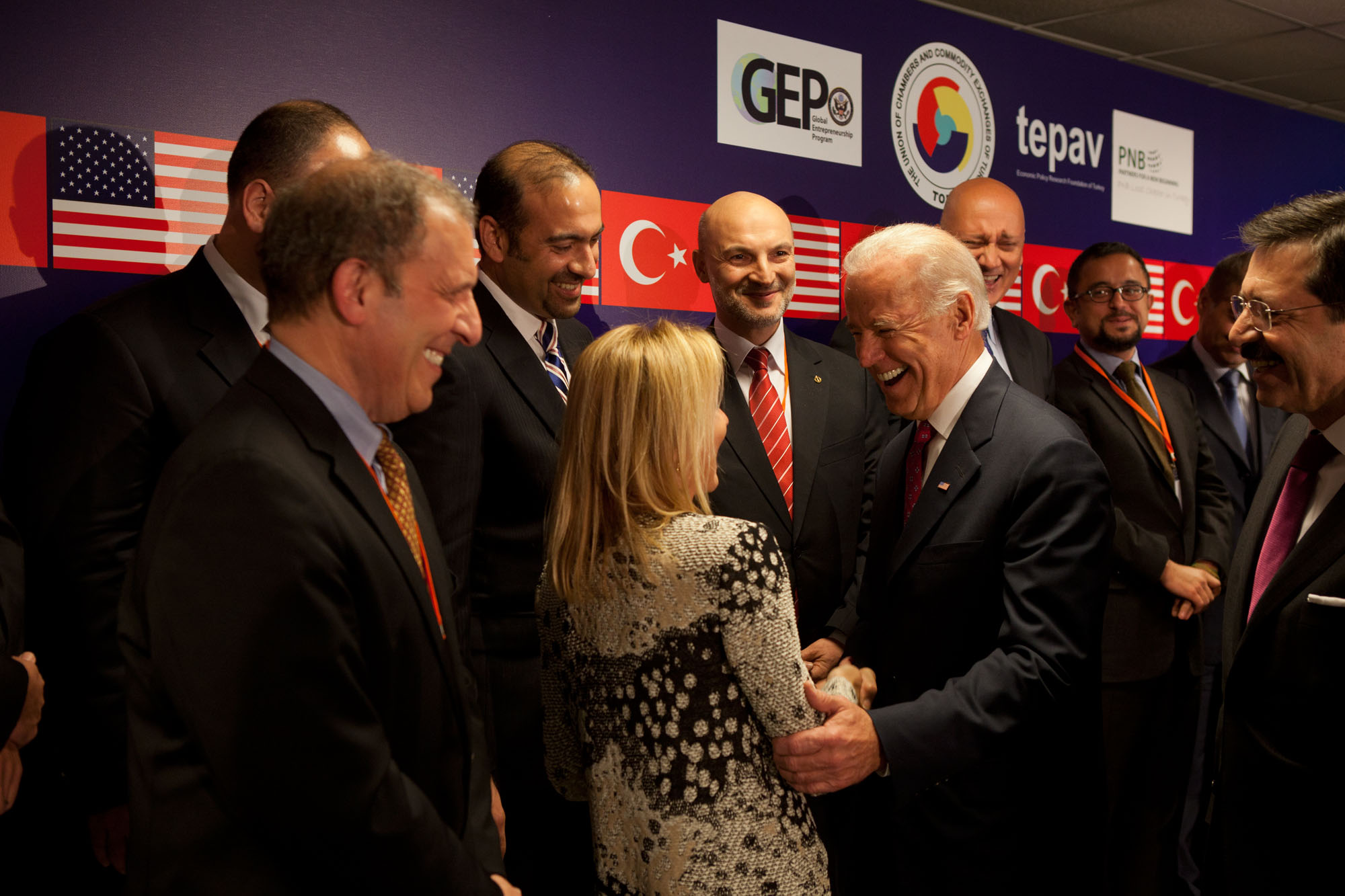 Vice President Joe Biden meets with U.S. and Turkish Business Leaders at the second Global Entrepreneurship Summit in Istanbul