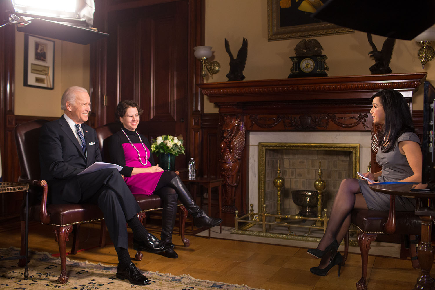 Vice President Biden discusses immigration reform during a Skype event