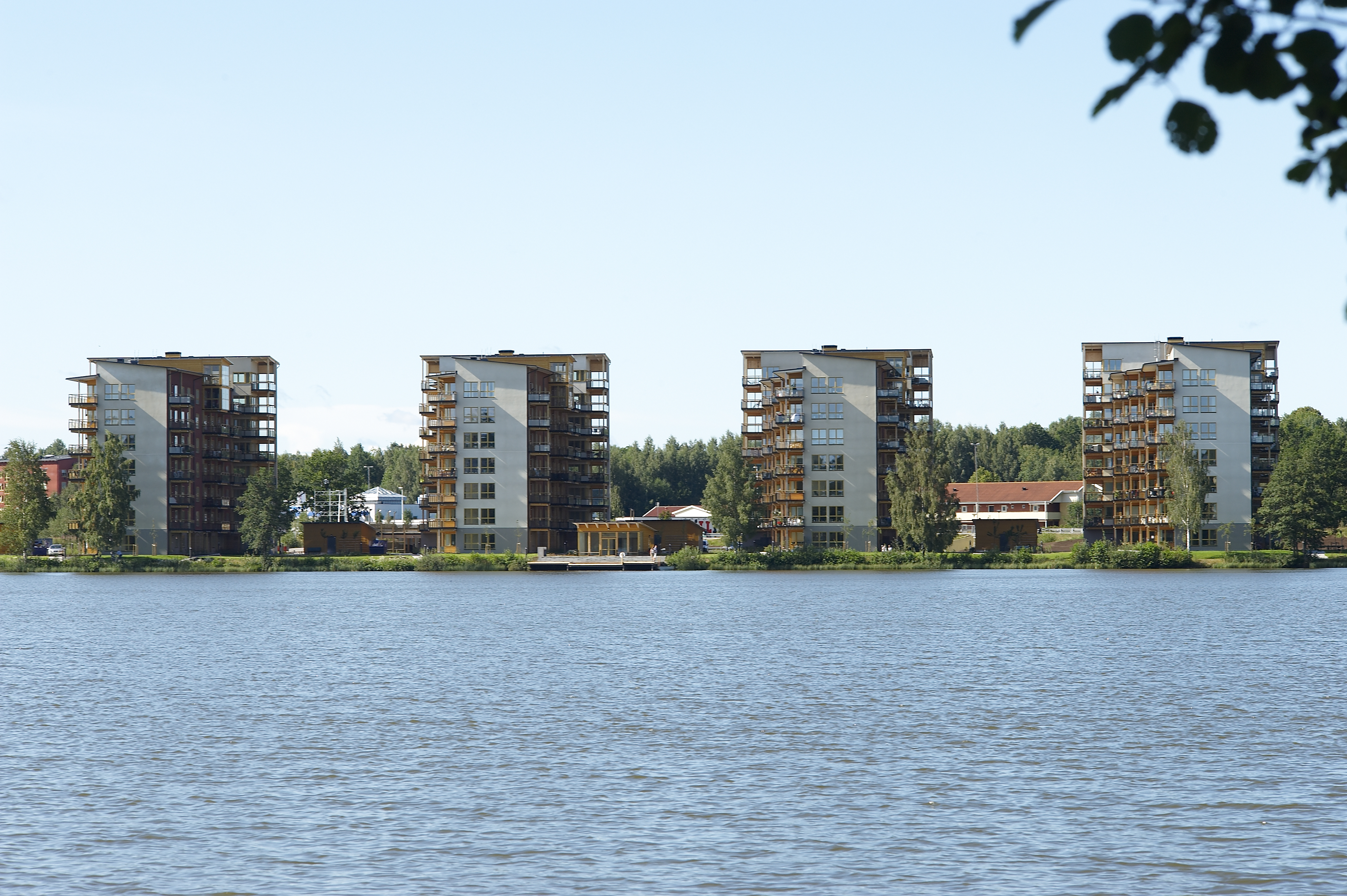 CLT apartment buildings in Vaxjo, Sweden