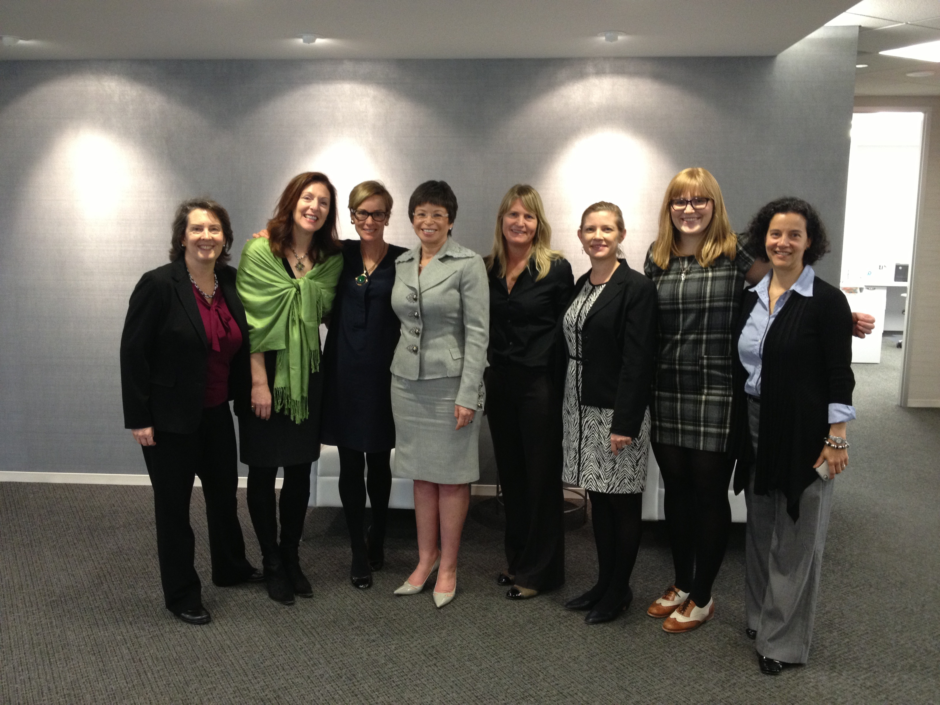 Valerie Jarrett visits the DC Volunteer Lawyers Project