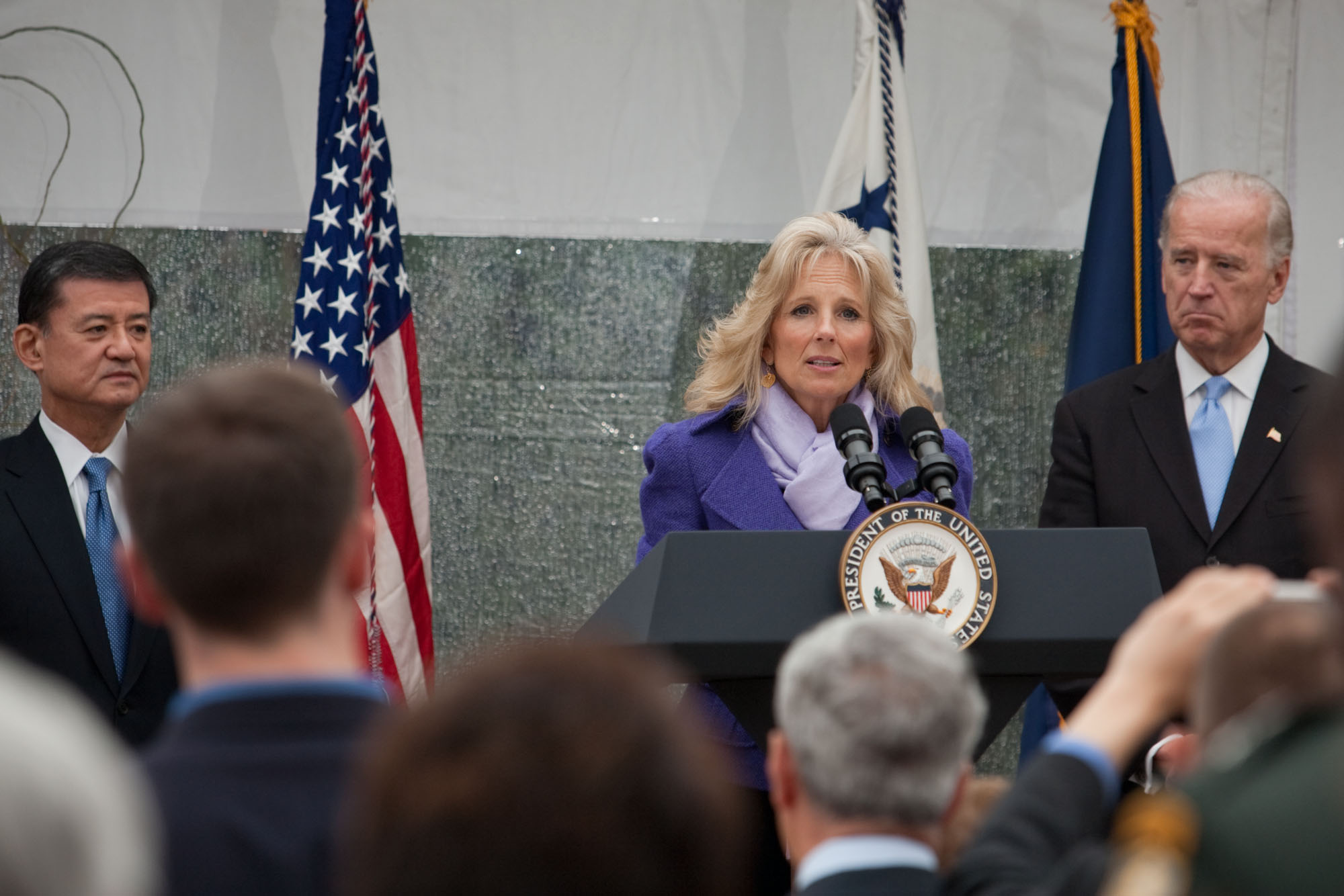 Dr. Biden on Veterans Day
