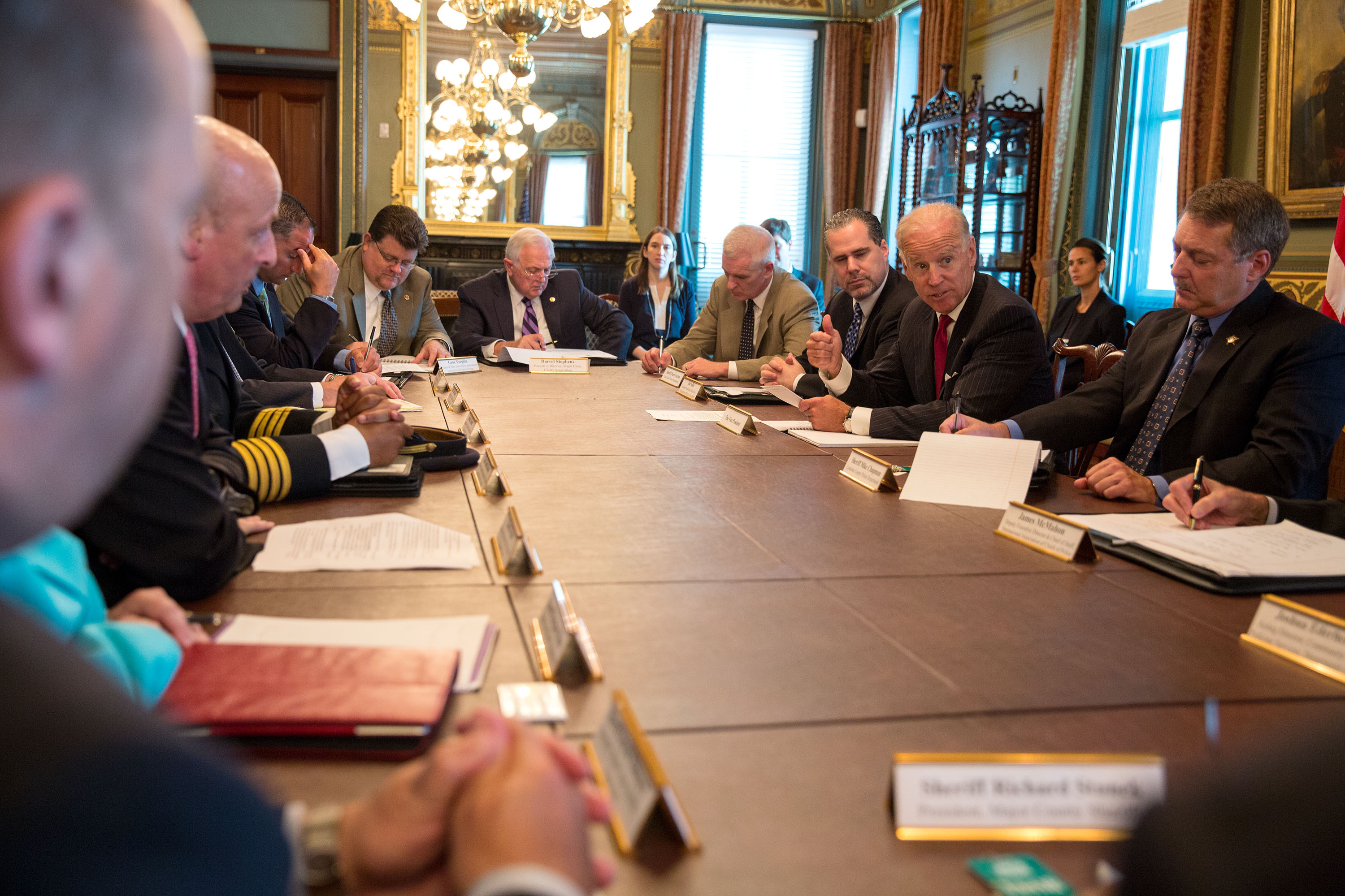 Vice President Biden Meets with Law Enforcement on Immigration Reform