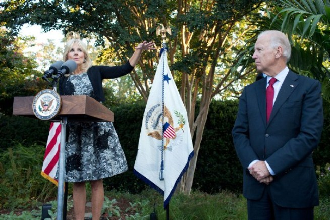 Vice President Joe Biden and Dr. Jill Biden speak at a reception with emerging young leaders
