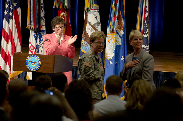 Valerie Jarrett speaks at Pentagon Pride on June 25, 2013